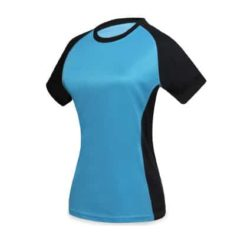 Tee shirt femme bicolore polyester sport personnalisable