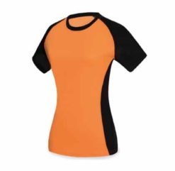 Tee shirt femme bicolore polyester sport