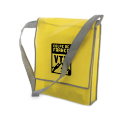 c92 - Sac besace-Musette cycliste jaune marquage evenement