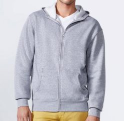 Sweat shirt capuche polyester dotation